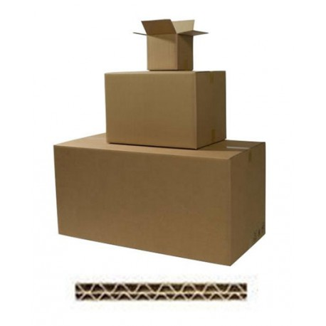 Cartons double cannelure - Long de 41 à 59 cm