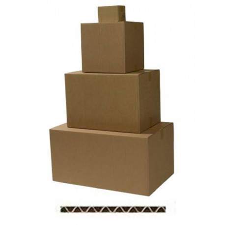 Caisses carton simple cannelure - Longueurs de 40 à 49 cm
