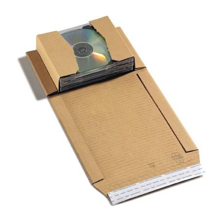 Etuis livres-CD-DVD avec bande adhésive