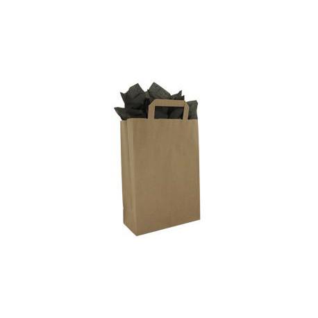 Sacs papier kraft à poignées plates